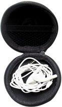 Handig opberg etui voor oortjes, USB sticks, geheugenkaarten. Zwart Tasje - Case headphones in ear.