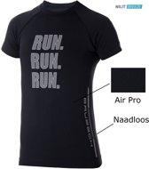 Brubeck   Dames Running Air Pro Hardloopshirt - verkoelend door Nilit® Breeze - Zwart - L