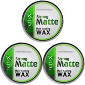 Totex Cosmetic Strong Matte Hair Styling Wax 3 x 150 mL