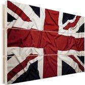 De vlag van Groot-Brittannië Vurenhout met planken 30x20 cm - klein - Foto print op Hout (Wanddecoratie)