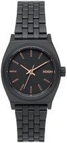 Nixon A399957 Small Time Teller all black / rose gold - Horloge - 26mm - Rosé