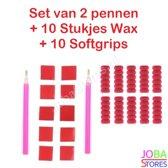 "Diamond Painting ""JobaStores®"" Pennen + Wax + Softgrips"