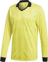 adidas Referee 18 LS Jersey Sportshirt performance - Maat S  - Mannen - geel