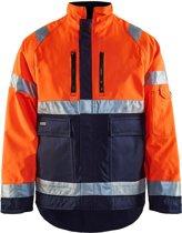 Blåkläder 4827-1977 Winterjas High Vis Oranje/Marineblauw maat XXXL