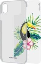 mmoods transparent cover met 1 insert Tropical -  voor iPhone X/Xs