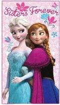 Disney Plaid frozen: elsa en anna 100 x 150 cm roze