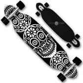 Longboard houten skateboard 22x96cm - groovy