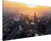 Luchtfoto van Beijing Canvas 80x40 cm - Foto print op Canvas schilderij (Wanddecoratie woonkamer / slaapkamer)