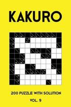 Kakuro 200 Puzzle With Solution Vol. 9