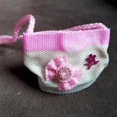 Roze Wit mini tasje