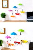 3 x Ophanghaak Zelfklevend Paraplu Design - Wand Haak