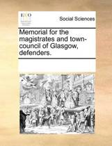 Memorial for the Magistrates and Town-Council of Glasgow, Defenders.
