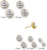 Huiscollectie 4009285 Gouden ronde oorbellen