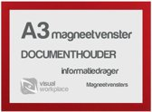 Magneetvenster A3 - Rood