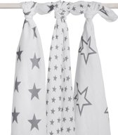 Hydrofiel multidoek 115x115cm Little star anthracite (3pack)
