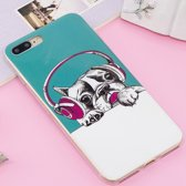 Let op type!! For iPhone 8 Plus & 7 Plus Noctilucent IMD Dog Pattern Soft TPU Back Case Protector Cover