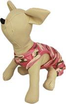 Camouflage jurkje roze voor de hond - XXS ( rug lengte 17 cm, borst omvang 26 cm, nek omvang 20 cm )