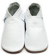 Inch Blue babyslofjes moccasin white maat L (13,5 cm)