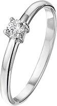 The Kids Jewelry Collection Ring Zirkonia - Zilver Gerhodineerd