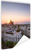 Luchtfoto Madrid Poster 120x180 cm - Foto print op Poster (wanddecoratie woonkamer / slaapkamer) / Steden Poster XXL / Groot formaat!