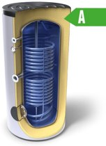 Indirect gestookte boiler 300 liter 2 wisselaars A-label (Tesy)