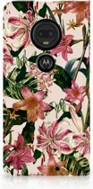 Motorola Moto G7 | G7 Plus Uniek Standcase Hoesje Flowers