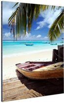 Vissersboot op de Caraiben Aluminium 80x120 cm - Foto print op Aluminium (metaal wanddecoratie)