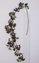 Bessentak - groot - kunstbloem - zwart - topkwaliteit - 97cm