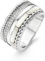 TI SENTO Milano Ring 12038MW - Maat 54 (17,25 mm) - Gerhodineerd Sterling Zilver