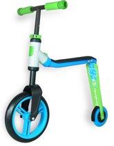Scoot & Ride | Highway Buddy | Step en Loopfiets in één |  Blauw/Groen