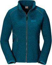 Jack Wolfskin Caribou Altis Jacket Women - dames - fleecevest - XL - blauw