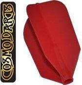Cosmo Darts Fit Flight Super Slim Red  Set à 6 stuks Donker Blauw