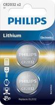 Philips CR2032 - Knoopcel batterij - 1 stuk