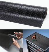 Rubber loper / Antislip / Diamond Plate - 4,7 mm / 91 cm x 22,8 mtr / zwart