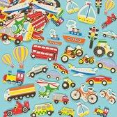 Foam stickers vervoersmiddelen  (108 stuks per verpakking)