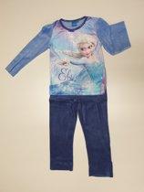 Disney Frozen Elsa fleece pyjama blauw maat 4 (104cm)