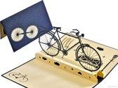 Popcards popupkaarten - Klassieke fiets herenfiets pop-up kaart