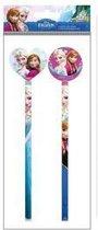 Disney Frozen Potloden met gum - 2 stuks