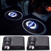 Set van 2x Auto logo LED LIGHT deur projectors I Inclusief Batterijen I voor Volvo