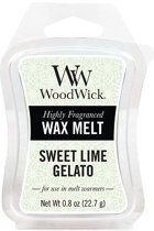 Woodwick Wax Melt Sweet Lime Gelato 3 stuks