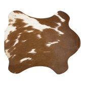 Mars & More Placemat - 30 x 48 cm - Koeienhuid bruin/wit