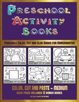 Printable Color, Cut and Glue Books for Kindergarten (Preschool Activity Books - Medium)