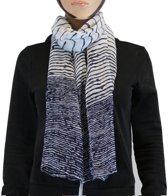 Sjaal 100% Viscose Donkerblauw Multi Color
