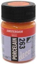 Amsterdam deco porcelain 263 Oranje Dekkend