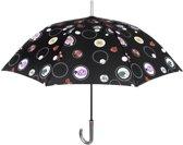 Perletti Paraplu Rozen Automatisch 102 Cm Zwart
