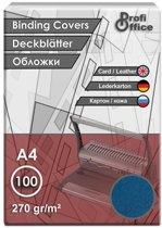 schutbladen ProfiOffice A4 270gr. karton 100 stuks leer blauw