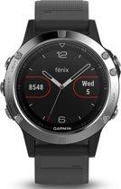 Garmin Fenix 5 - Multisporthorloge - GPS - Zwart/Zilver - 47mm