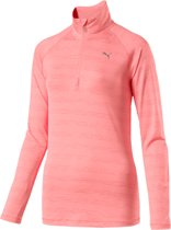 PUMA Core-Run L/S HZ Top Sportshirt Dames - Soft Fluo Peach Heather