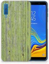 Samsung Galaxy A7 (2018) Siliconen Backcase Design Green Wood