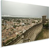 Muren van het Middeleeuwse Franse stad Carcassonne Plexiglas 60x40 cm - Foto print op Glas (Plexiglas wanddecoratie)